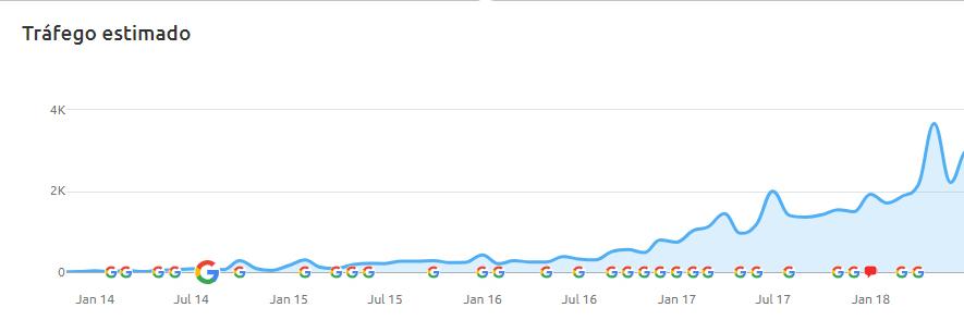 O site brasileiro da empresa foi lançado do zero em 2014, conquistou milhares de visualizações de páginas em poucos meses e se consolidou com visitas crescentes com o passar dos anos.