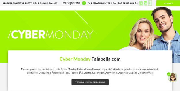 cyber monday falabella