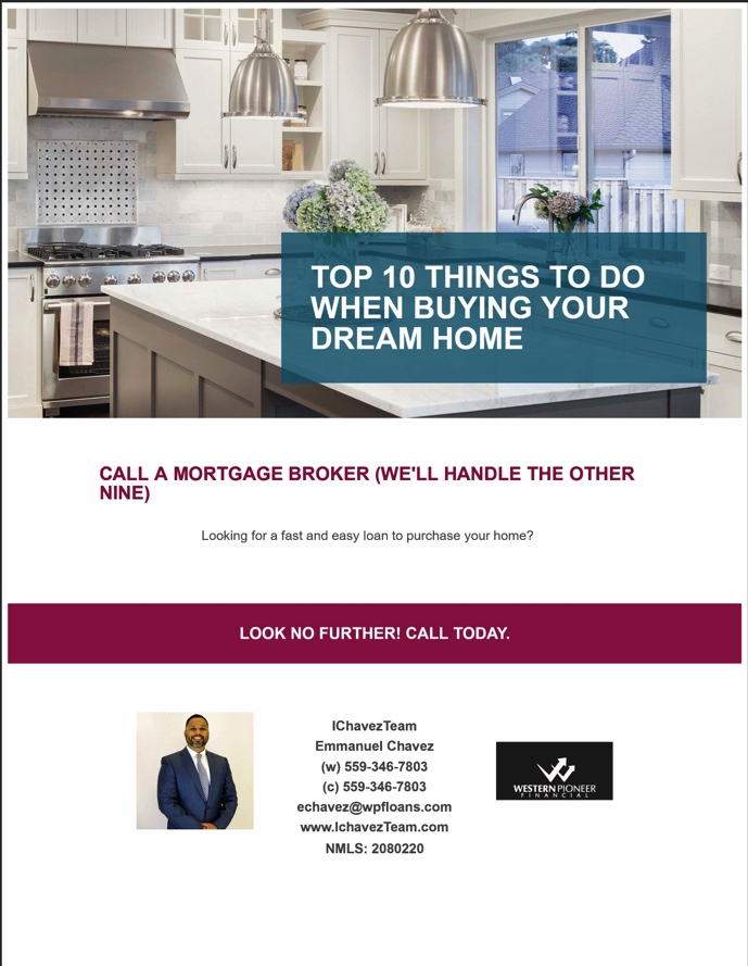 Top mortgage broker enclosed in Fresno area providing home loan, lending and financial service