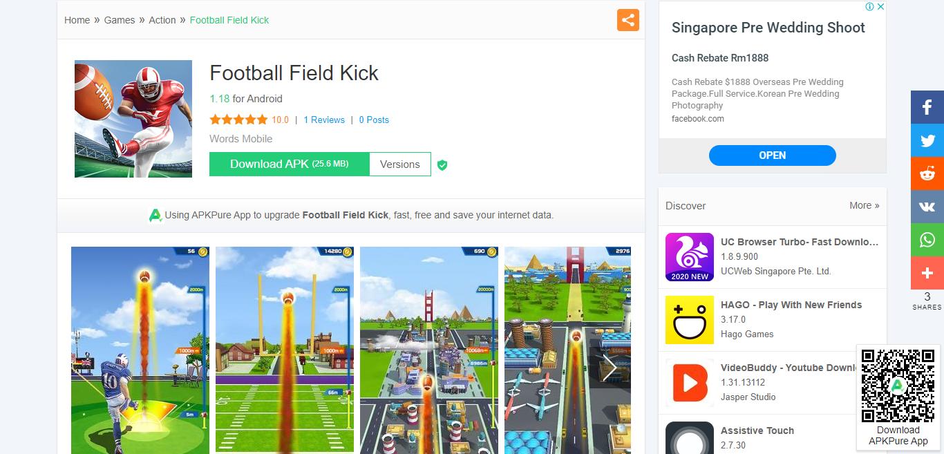 আধুনিক খেলা প্রাধান্য ফুটবল 3D গেম ডাউনলোড