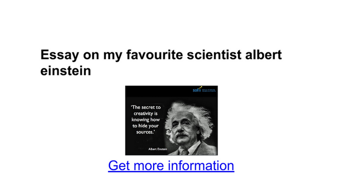 essay on my favourite scientist albert einstein google docs