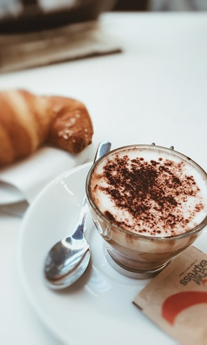 Hot chocolate is a warm Italian breakfast pick-me-up alternative to coffee.