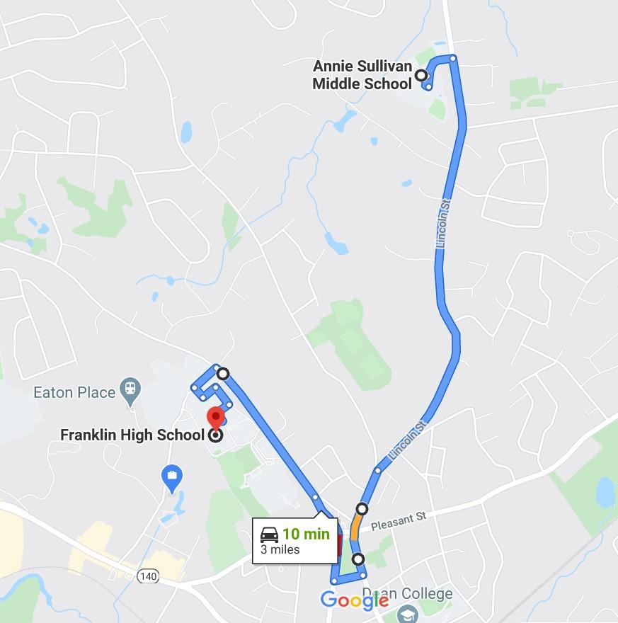 Annie Sullivan Parade Route: