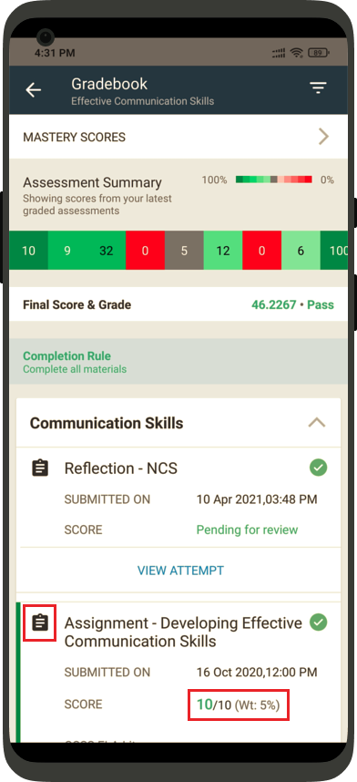 teamie mobile apps learner native gradebook