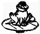 Image result for FROG ON LEAF  black and white clip art