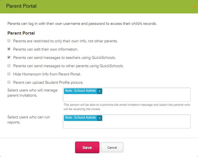 Parent Portal (for Admins) – QuickSchools Support