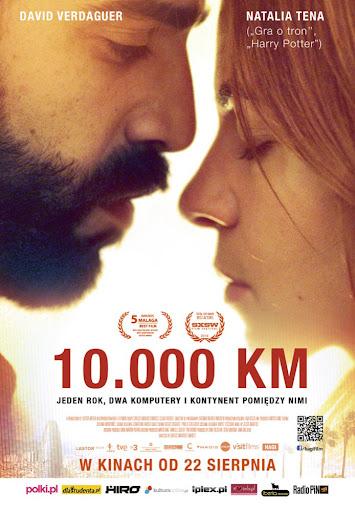 Polski plakat filmu '10.000 km'