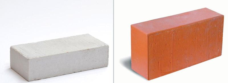 Solid ceramic and silicate bricks