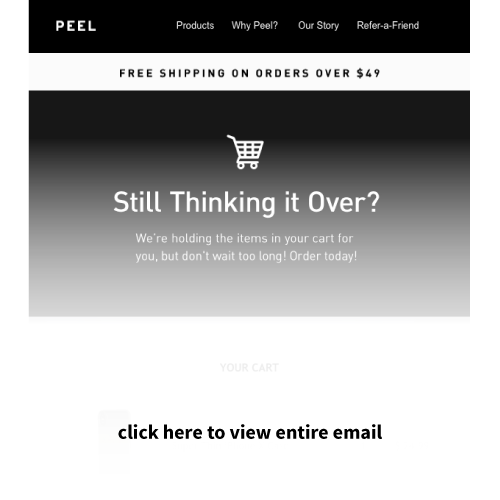 Drip email marketing example Peel