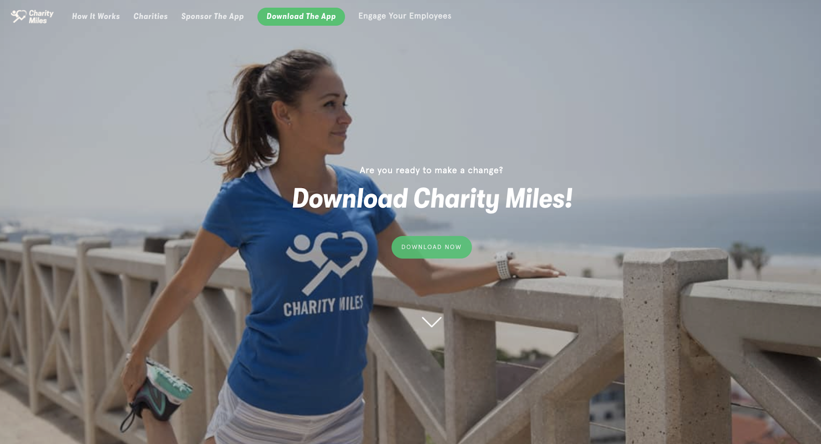 Charity Miles is an app that donates to charities on behalf of users who record the miles they run, walk, & bike on the app.