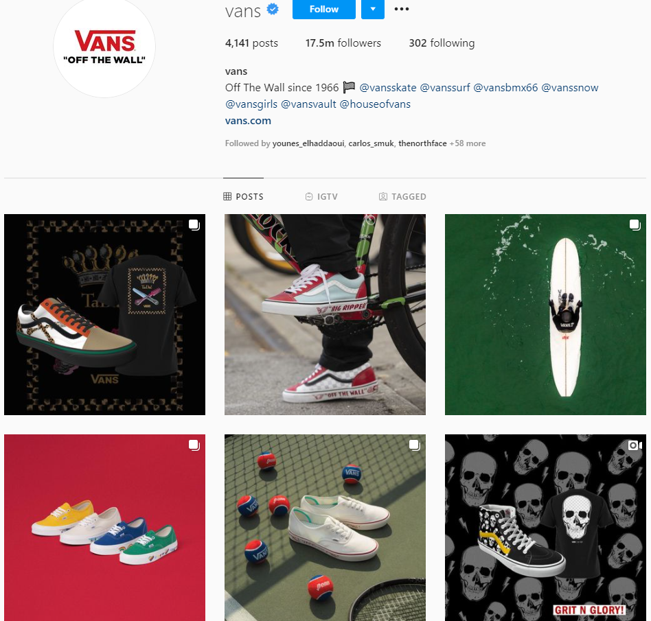Best brands on Instagram: Vans
