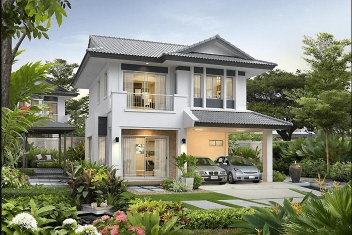 Thiết kế biệt thự 2 tầng nhà vườn rộng rãi