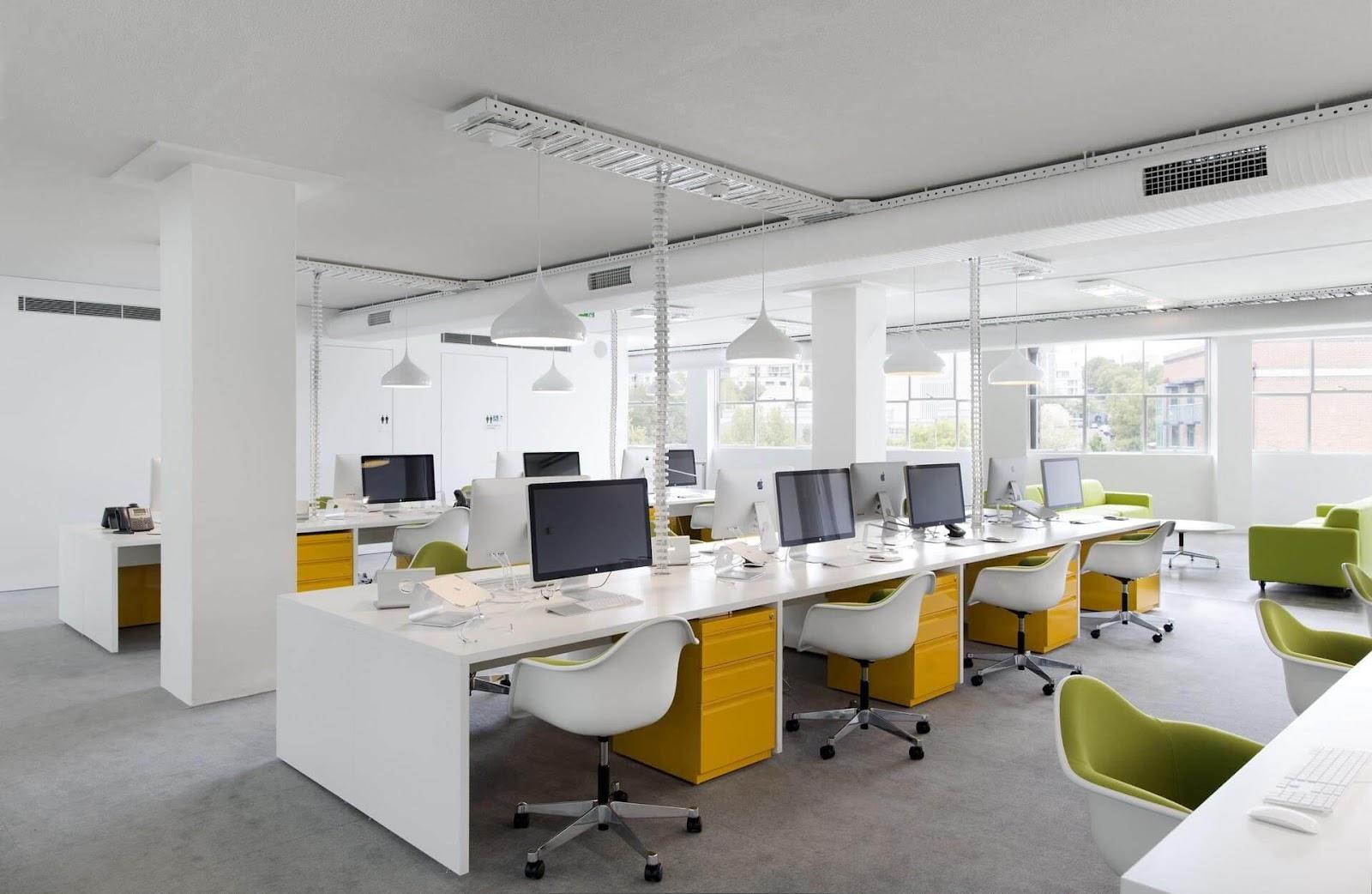 Kết quả hình ảnh cho thiết kế văn phòng diện tích lớn