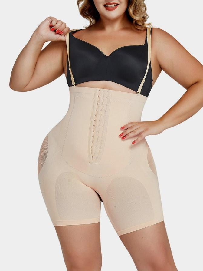 Plus Size Tummy-Control Body Shaper Shorts