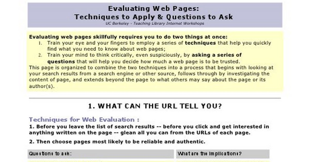evaluating a website essay Read this essay on evaluating a website come browse our large digital warehouse of free sample essays get the knowledge you need in order to pass your evaluation of website for credibility: american association for nurse practitioners aman verma chamberlain college of nursing nr500.