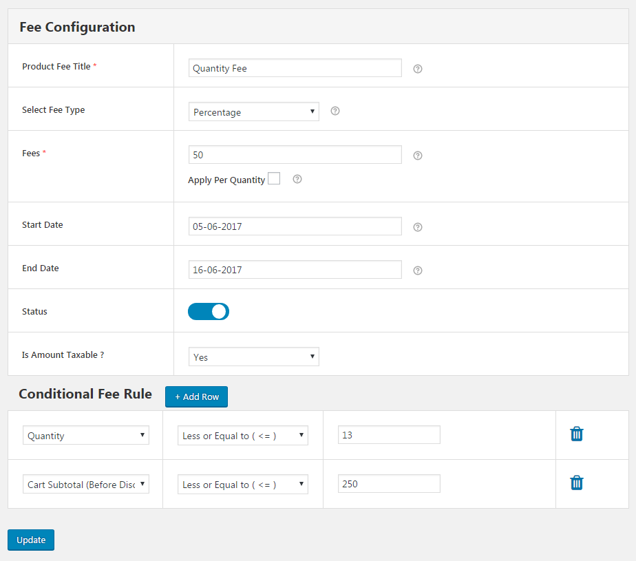 Adding Surcharges in Online Stores using Extra Fees Plugin