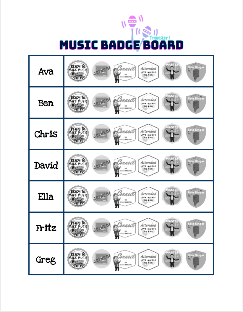 Google Docs Badge Board