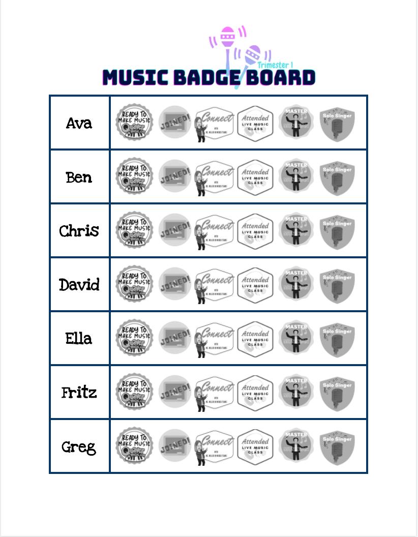 Google Docs Badge Board