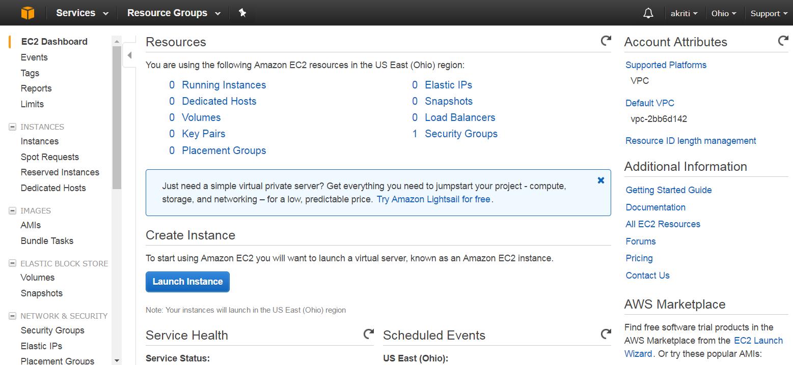 Create Virtual Machine on Amazon Web Services ( AWS ) 30