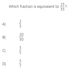 Is your answer A, B, C, or D?  How did you know that the answer you chose was equivalent?