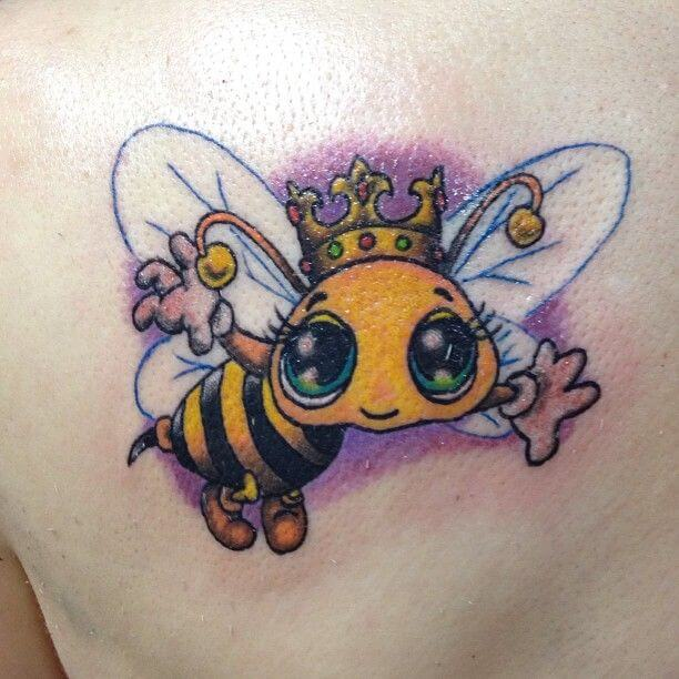 cartoon bee tattoo designs