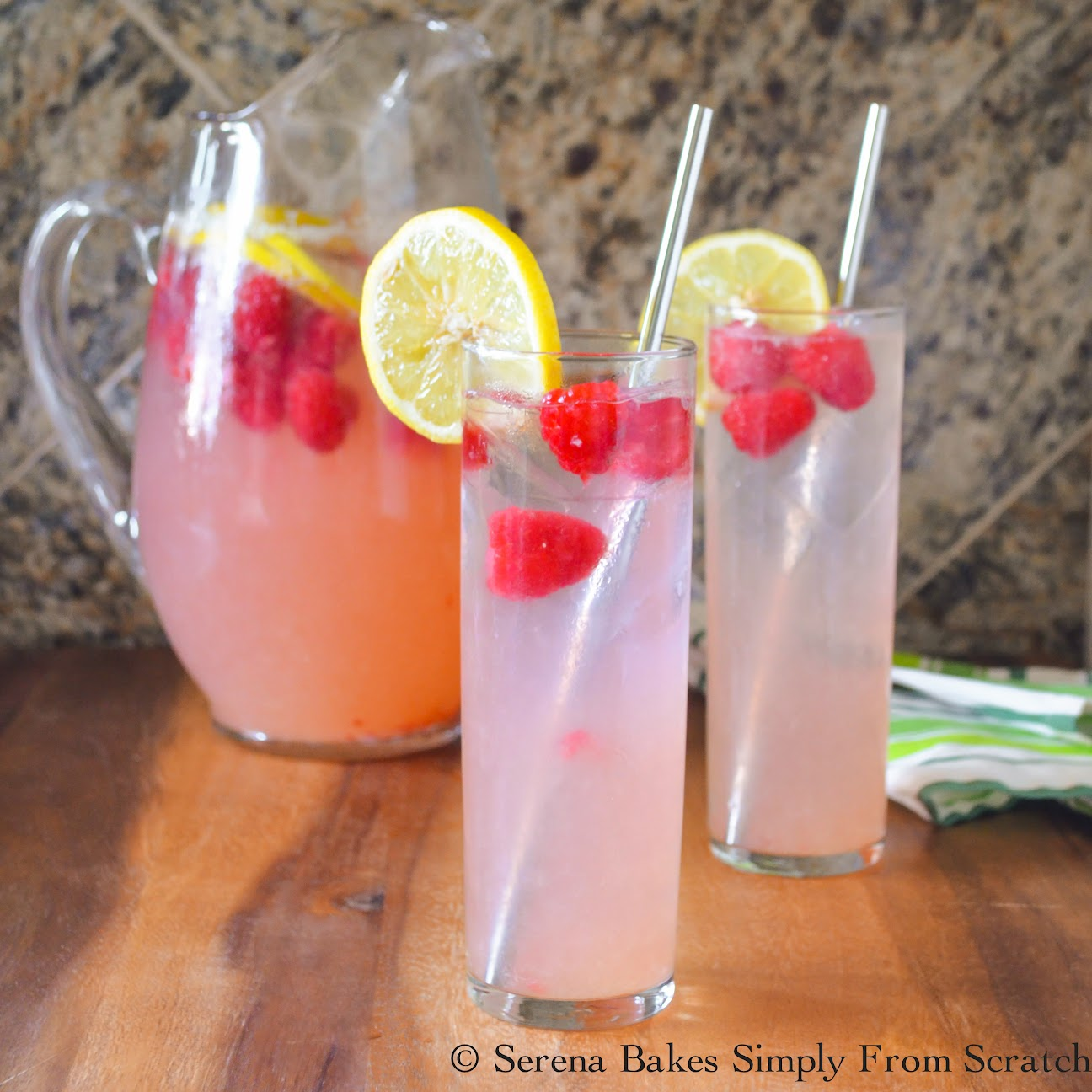 Sparkling Raspberry Lemonade With A Cocktail Option