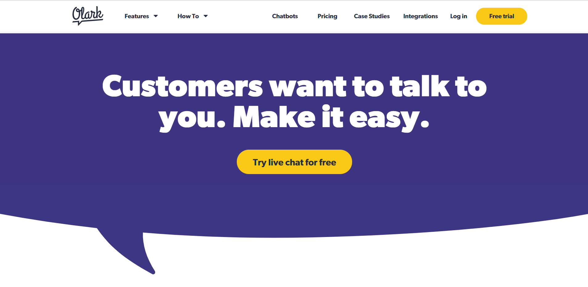 olark chat- chat with customer