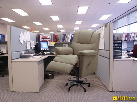 all those hard working individuals confined to a cubicle can finally catch some slack with this lazyboy recliner desk chair - Lazy Boy Office Chairs