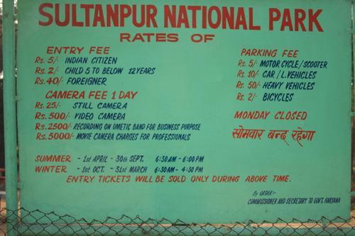 Park fees
