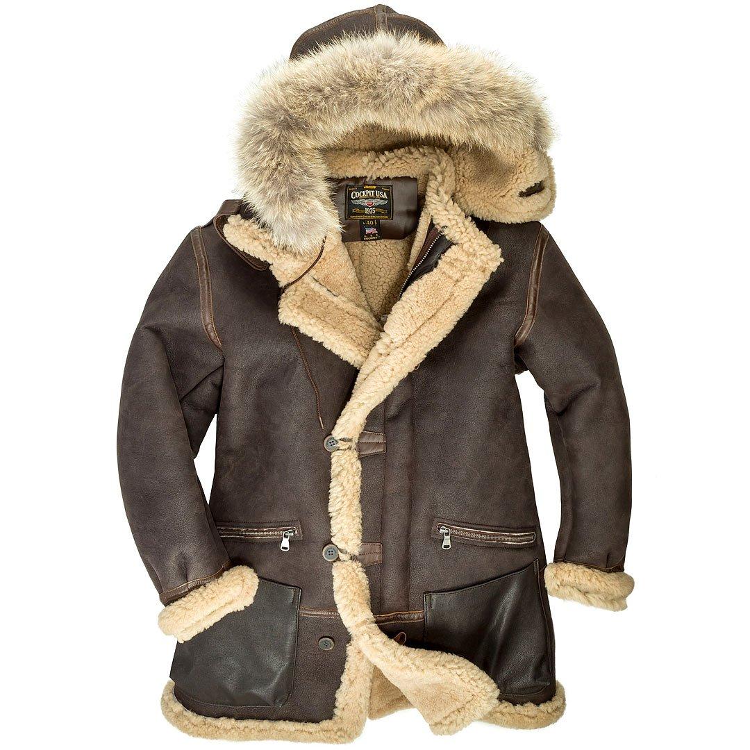 Authentic German Navy Deck Parka military coat jacket fur lining winter