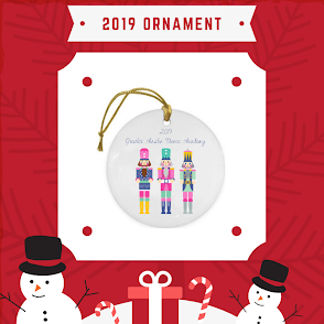 """To order the personalized ornament ($14.00), select """"other"""" and fill in the name you would like written on back of the ornament"""