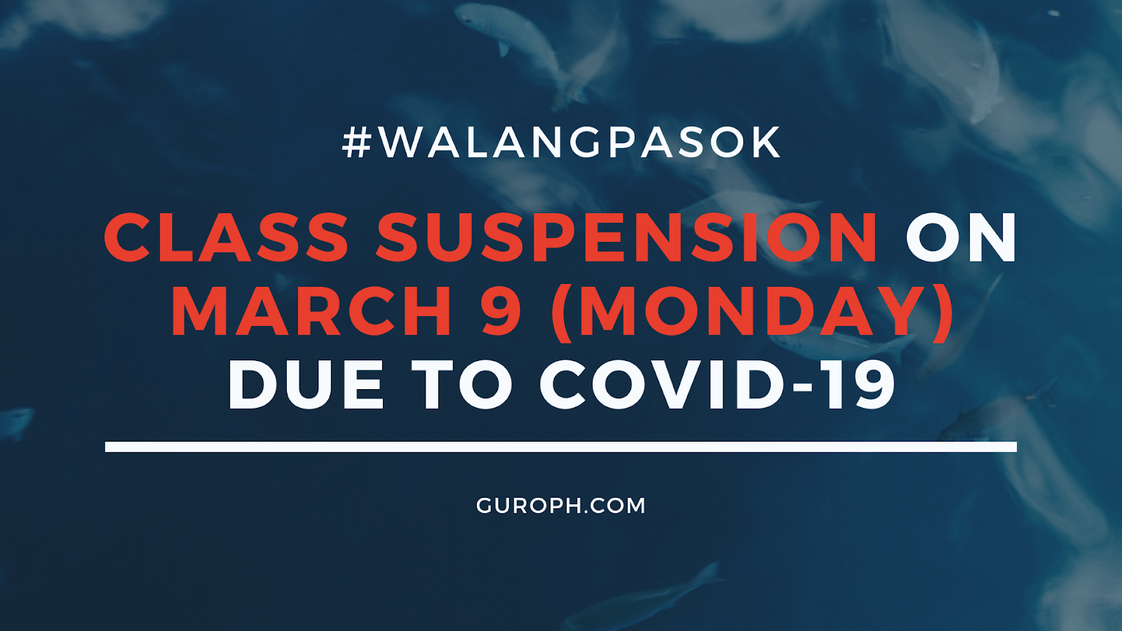 Walang Pasok cancels classes due to COVID-19, pandemic