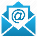 Email icon of an open envelope with the @ symbol