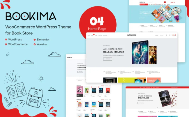 WooCommerce: Top 10+ Bookstore Themes