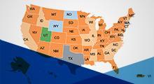 Mandate map of United States of America