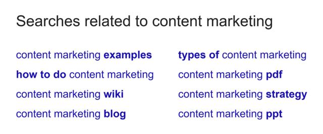 Sử dụng kết quả tìm kiếm có liên quan để tạo hệ thống keyword (Ảnh: https://backlinko.com)