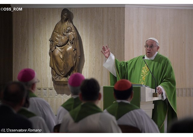 Pope Francis delivering his homily during the Mass. - OSS_ROM