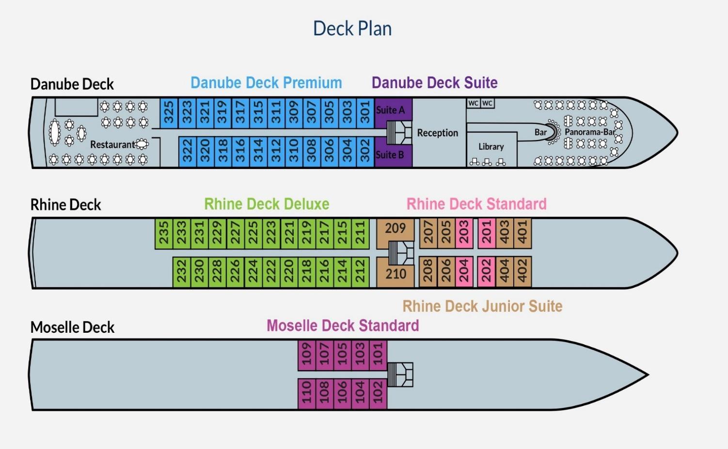 ms johann strauss deck plan ile ilgili görsel sonucu