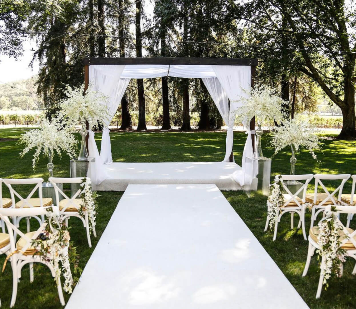 ceremony space for wedding
