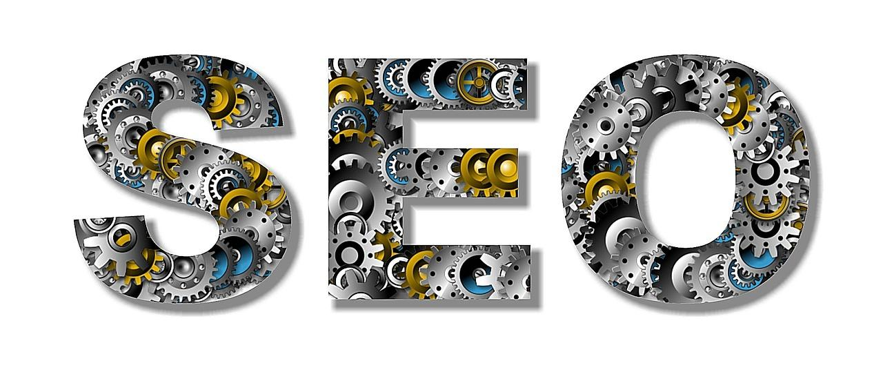 """The word """"SEO"""" with gears"""