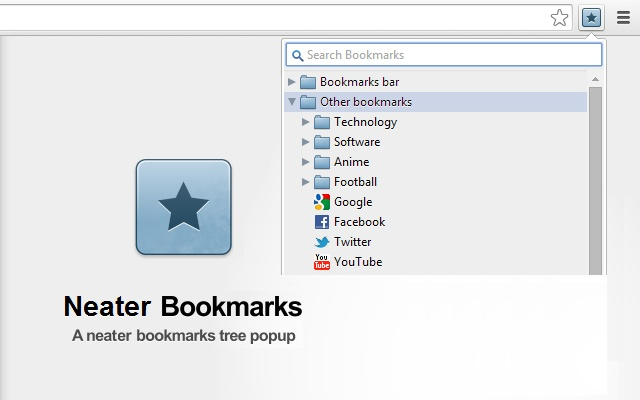 Neater Bookmarks chrome extension