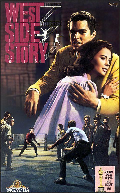 WESTSIDE STORY (1961) Modern-day Romeo & Juliet set in the hoods of New York.  Fabulous choreography!  Starring Natalie Wood, RIchard Beymer, Russ Tamblyn, Rita Moreni, and George Chakiris: