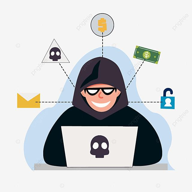 Cartoon Hand Drawn Hacker Computer Money Illustration, Money Cartoon, Hand  Painted, Hacker PNG and Vector with Transparent Background for Free Download