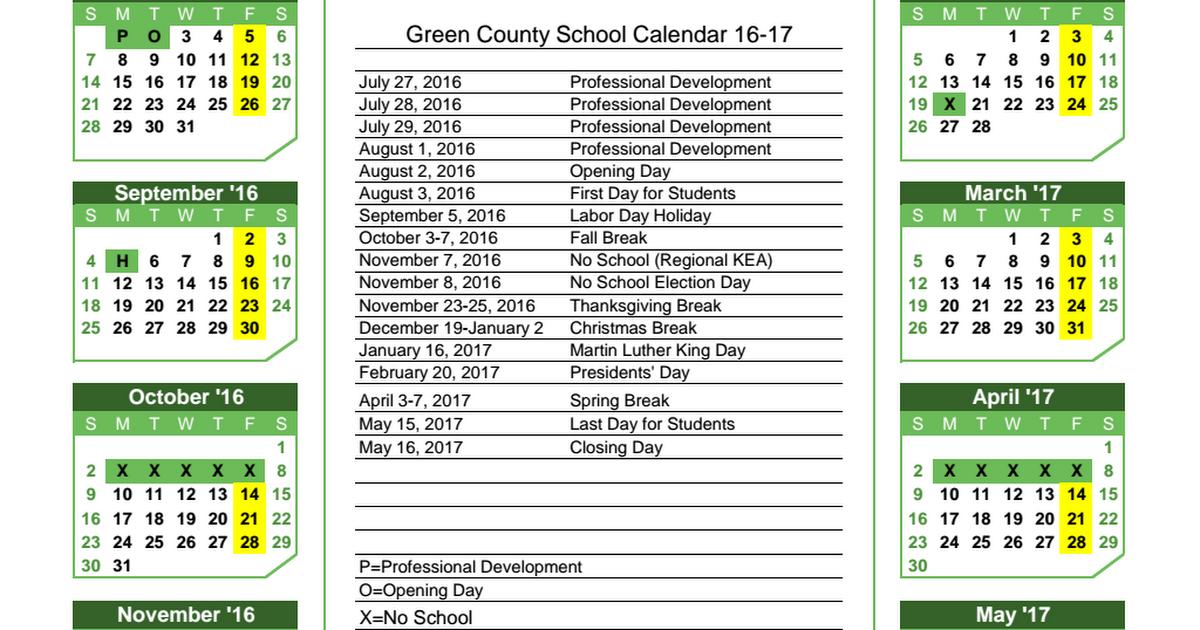 16 17 School Year Calendar Pdf Google Drive