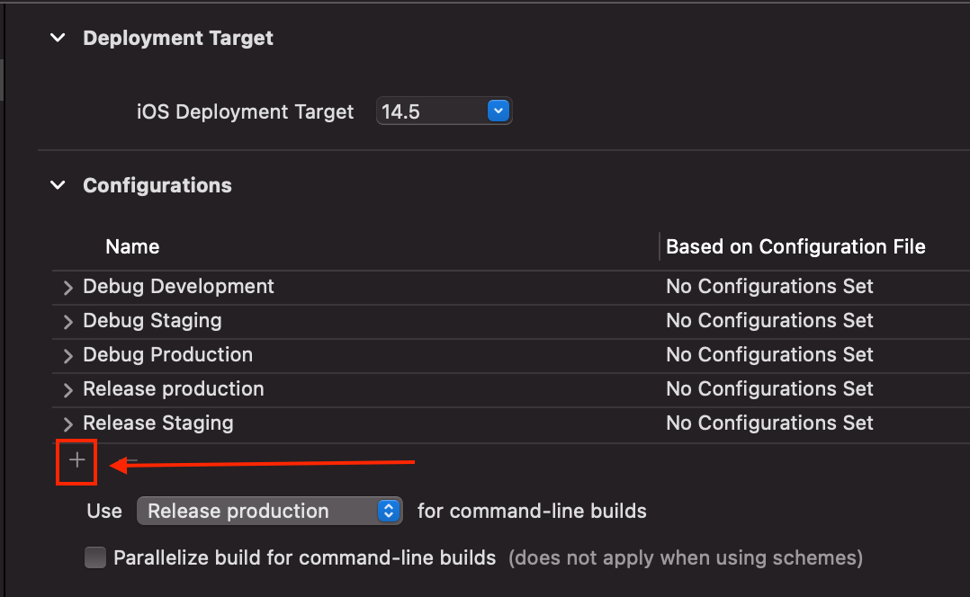 add new configuration and configuration list