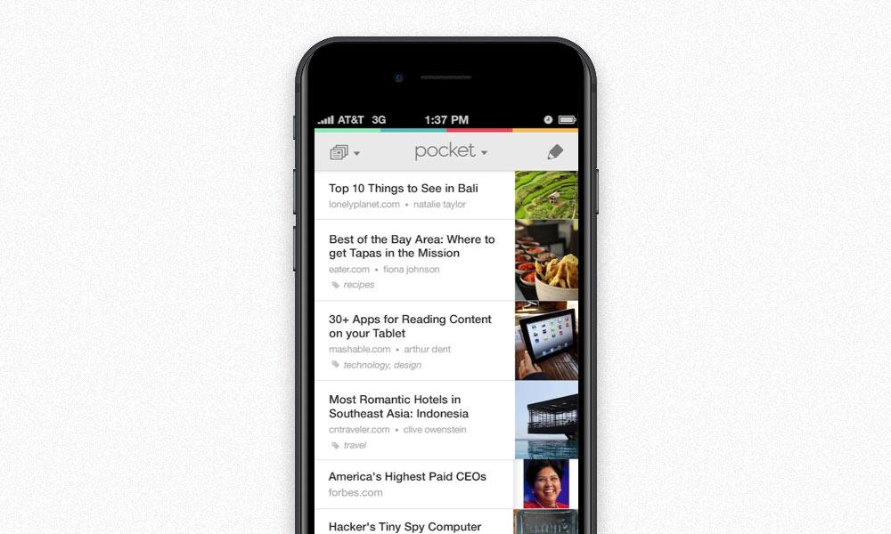 Приложение Pocket: видео и скриншоты