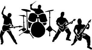 Image result for band clipart black and white