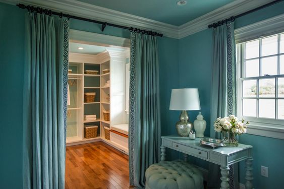 A Fabric Curtain or Drape Can Be A Walk-in Closet Door