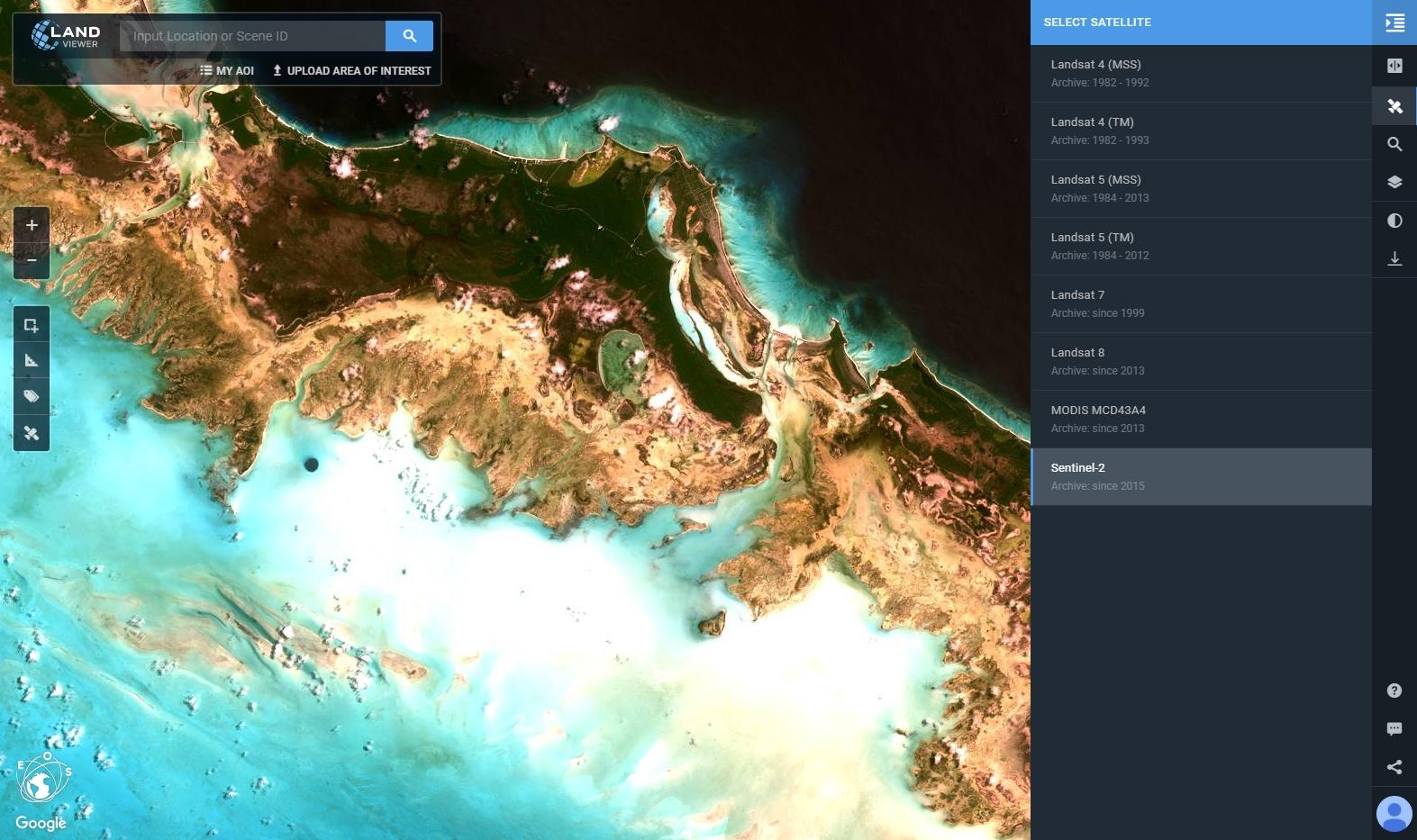 Work easier with satellite images landviewer launches new features instantly synthesize useful results from a data source to generate for example spectral indices shortwave infrared composites and many others using a gumiabroncs Gallery