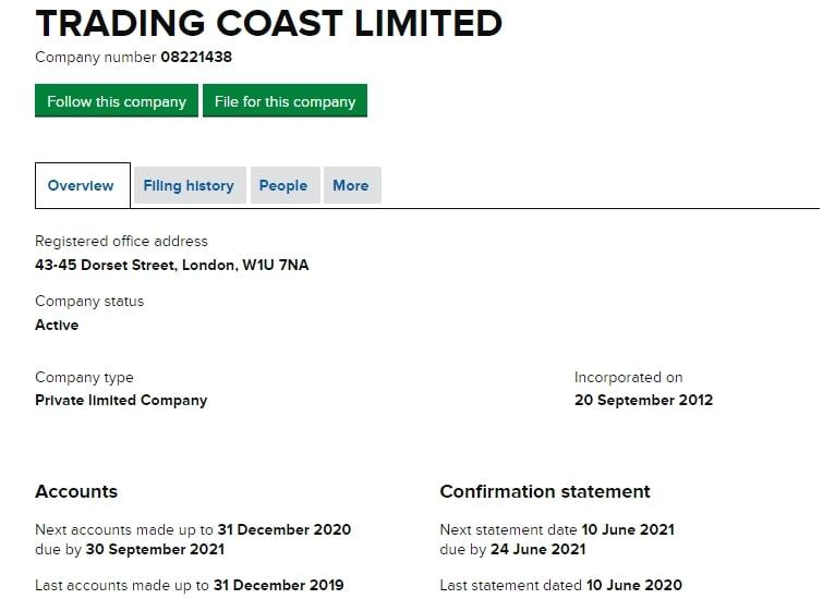 Обзор деятельности и предложений Trading Coast, реальные отзывы